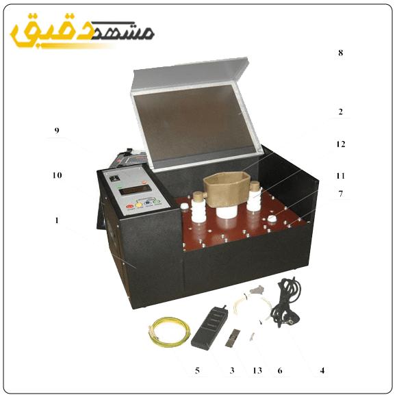 دستگاه تستر روغن ترانسفورماتور DET UIM-90